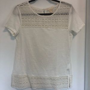 White lace T shirt WORN ONCE